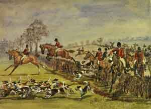 Fox-hunting in Leicestershire
